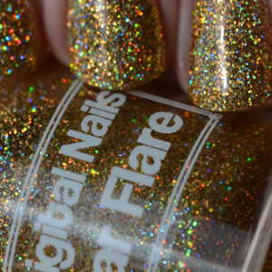 Solar Flare Extreme Gold Holographic Nail Polish from Digital Nails