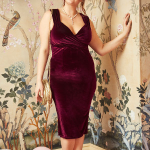 Lady Love Song Velvet Dress in Merlot