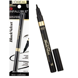 L'Oreal Paris Cosmetics Infallible Black Velvet Liquid Eyeliner