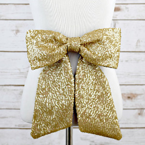 Bow Belt - Sequin - Gold/Black