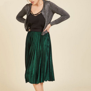 Heart Set on Velvet Midi Skirt