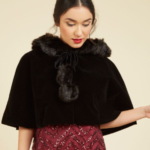 Spirited Sleigh Ride Velvet Cape