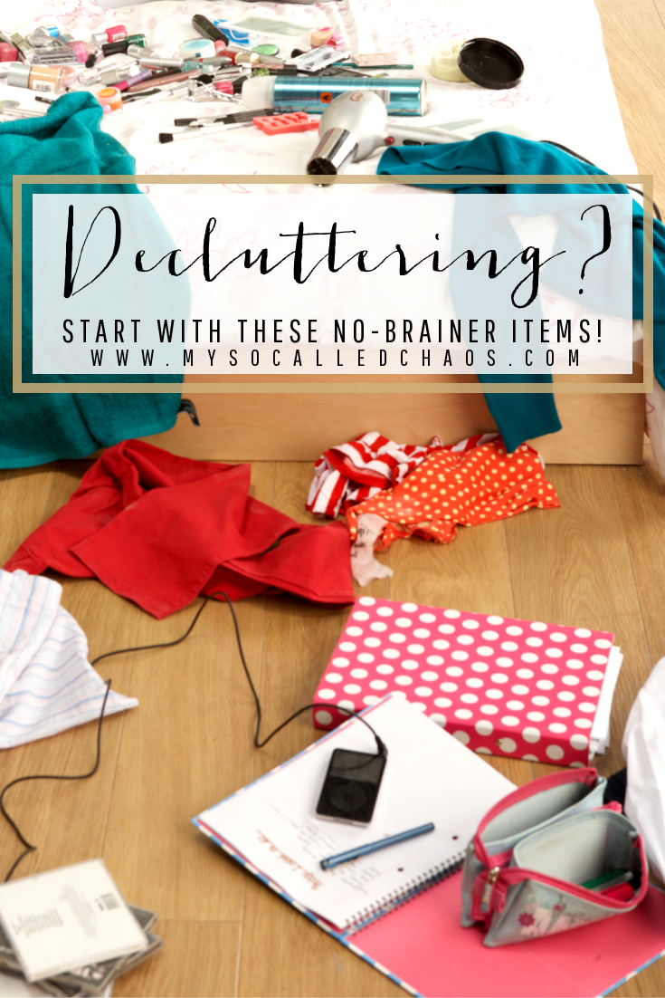 Decluttering? Start With These No-Brainer Items