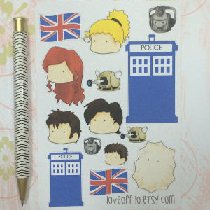 Chibi Timelords Planner Stickers
