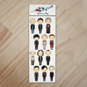 All the Doctors Sticker Set