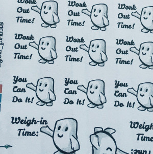 Adipose Doctor Who Workout Icon Stickers