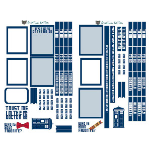 Dr Who Inspired Digital Download Planner Stickers