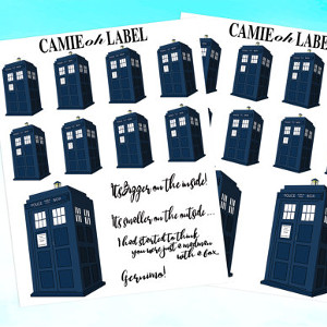 Doctor Who Tardis Planner Stickers