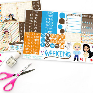 Vertical Princess Pocahontis Sticker Kit