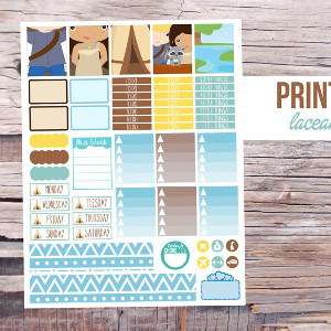 Printable Native Princess Planner Stickers