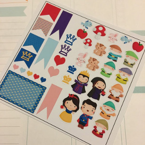 Snow White Planner Stickers