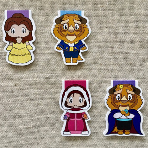 Magnetic Bookmarks - Beauty and the Beast