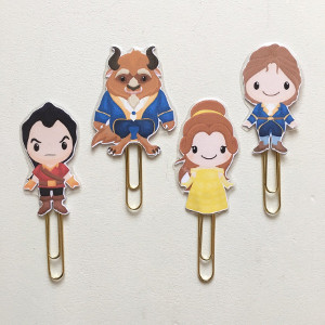 Fairy Tale Beauty & the Beast Double Sided Planner Clip