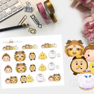 Belle Inspired Tsum Tsum Stickers