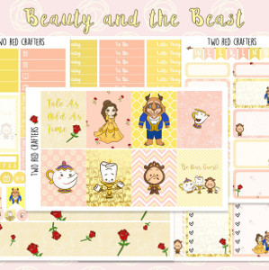 Beauty and the Beast Planner Sticker Kit