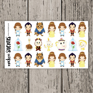 21 Beauty and The Beast Stickers