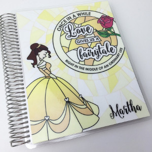 Personalized Belle Stained Glass Planner Cover