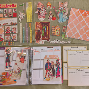 Upcycled 1981 Cinderella Planner Accessory Pack