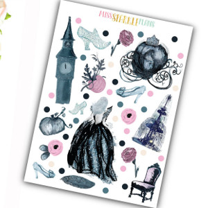 Cinderella Decorative Stickers Sheet