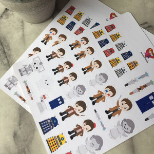 Dr Who Planner Stickers