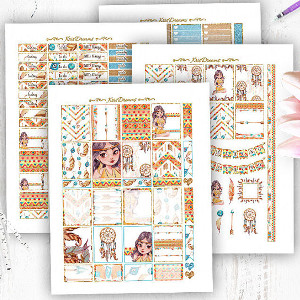 Pocahontas Watercolor Handpainted Planner Stickers