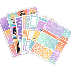 Disney Princesses Planner Stickers Weekly Kit