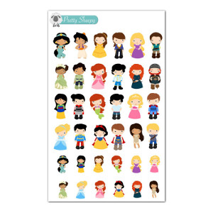 Disney Princess and Prince Stickers