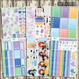 A World of Princesses Erin Condren Planner Kit