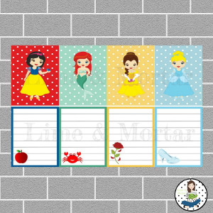 Princess Pack Full Box Planner Stickers