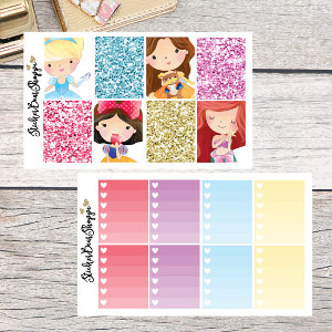 Disney Princess Weekly Kit Planner Stickers
