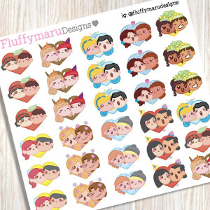 Disney Couples Planner Stickers