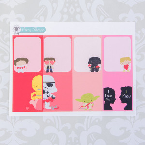 Star Wars Valentine's Day Full Box Stickers