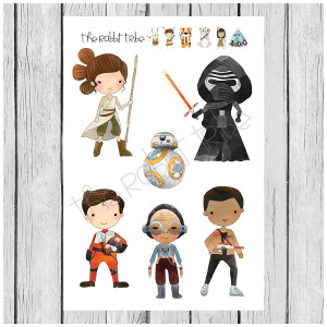 Star Wars Mini Sticker Sheets