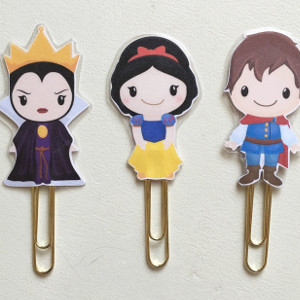 Fairy Tale Snow White Double Sided Planner Clip