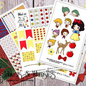 Snow White Fan Art Sticker Set for MAMBI
