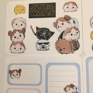 Star Wars Tsum Tsum Planner Stickers