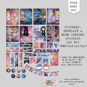 Star Wars Planner Printables Sticker Set