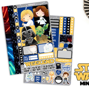 Star Wars Mini Weekly Stickers Kit