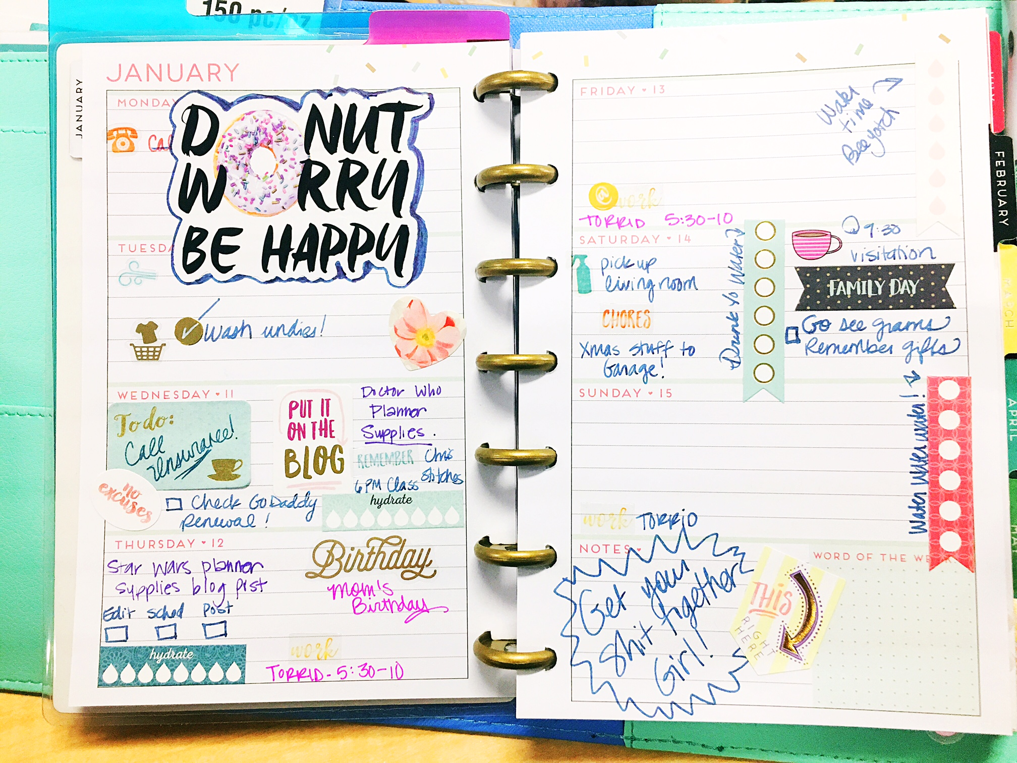 Angie's Planner Spread
