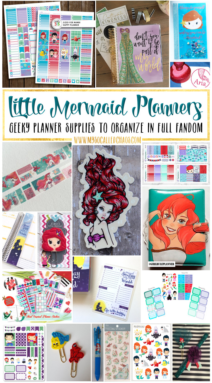 Little Mermaid Planner Supplies