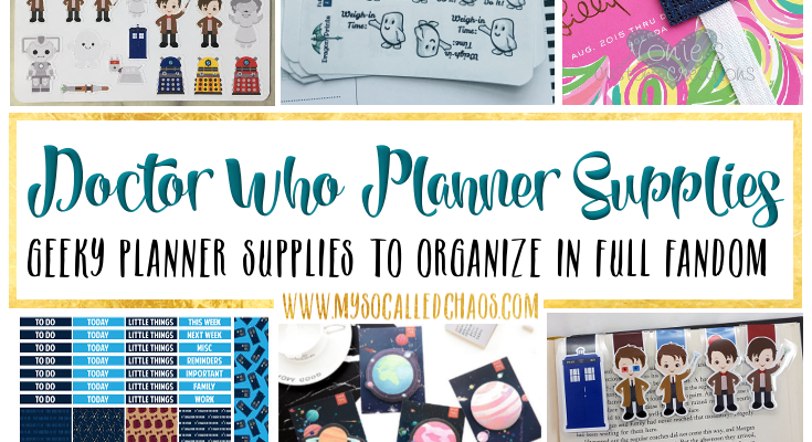 Doctor Who Planner Supplies & Inspiration