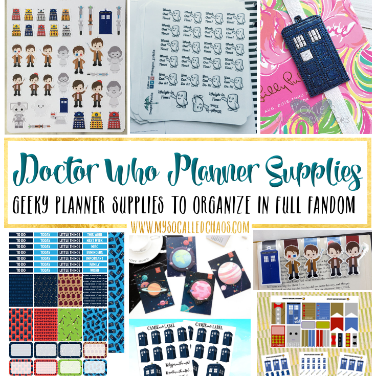 Doctor Who Planner Supplies - Geeky Planner Supplies to Organize in Full Fandom (Space Edition)