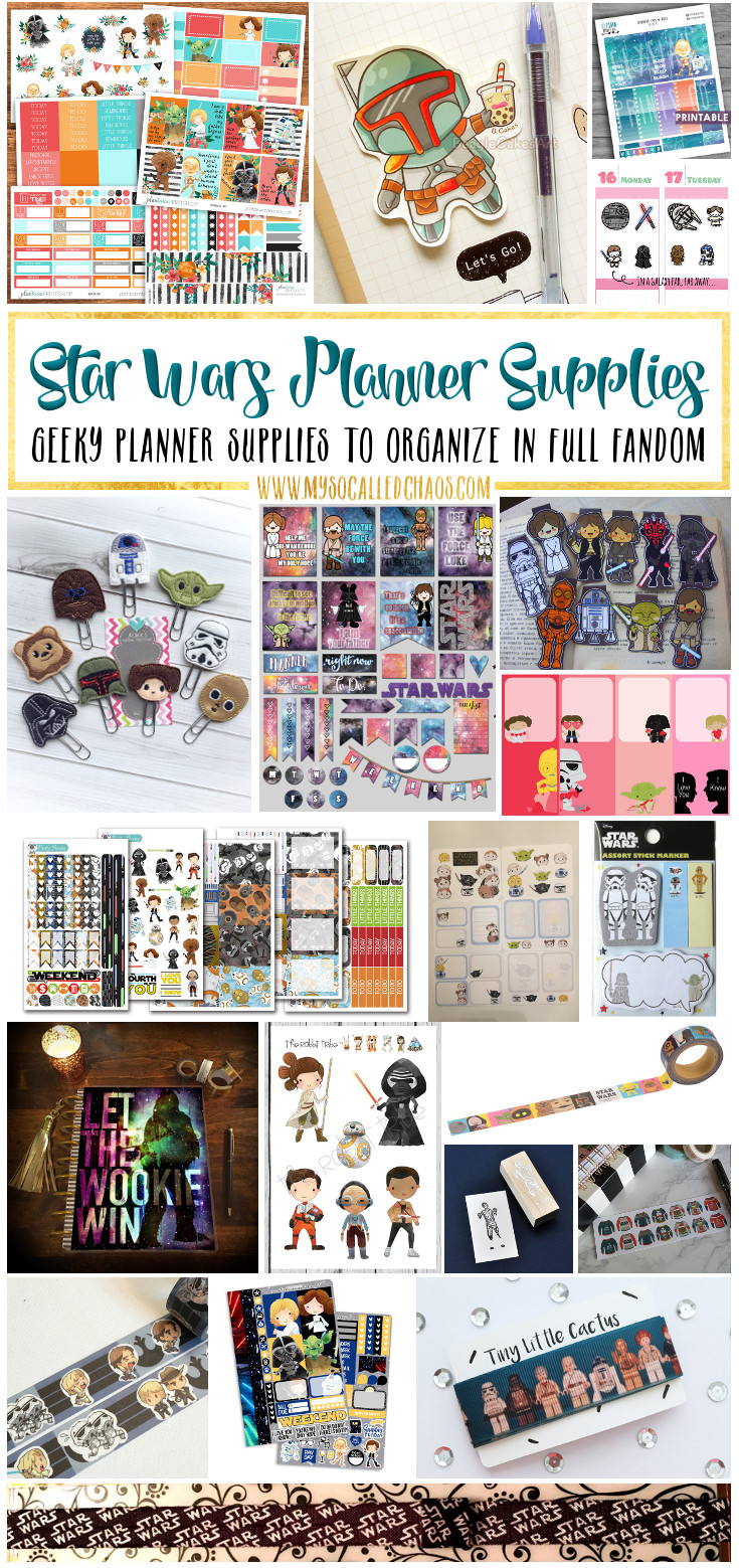 Star Wars Planner Supplies & Planner Spread Inspiration