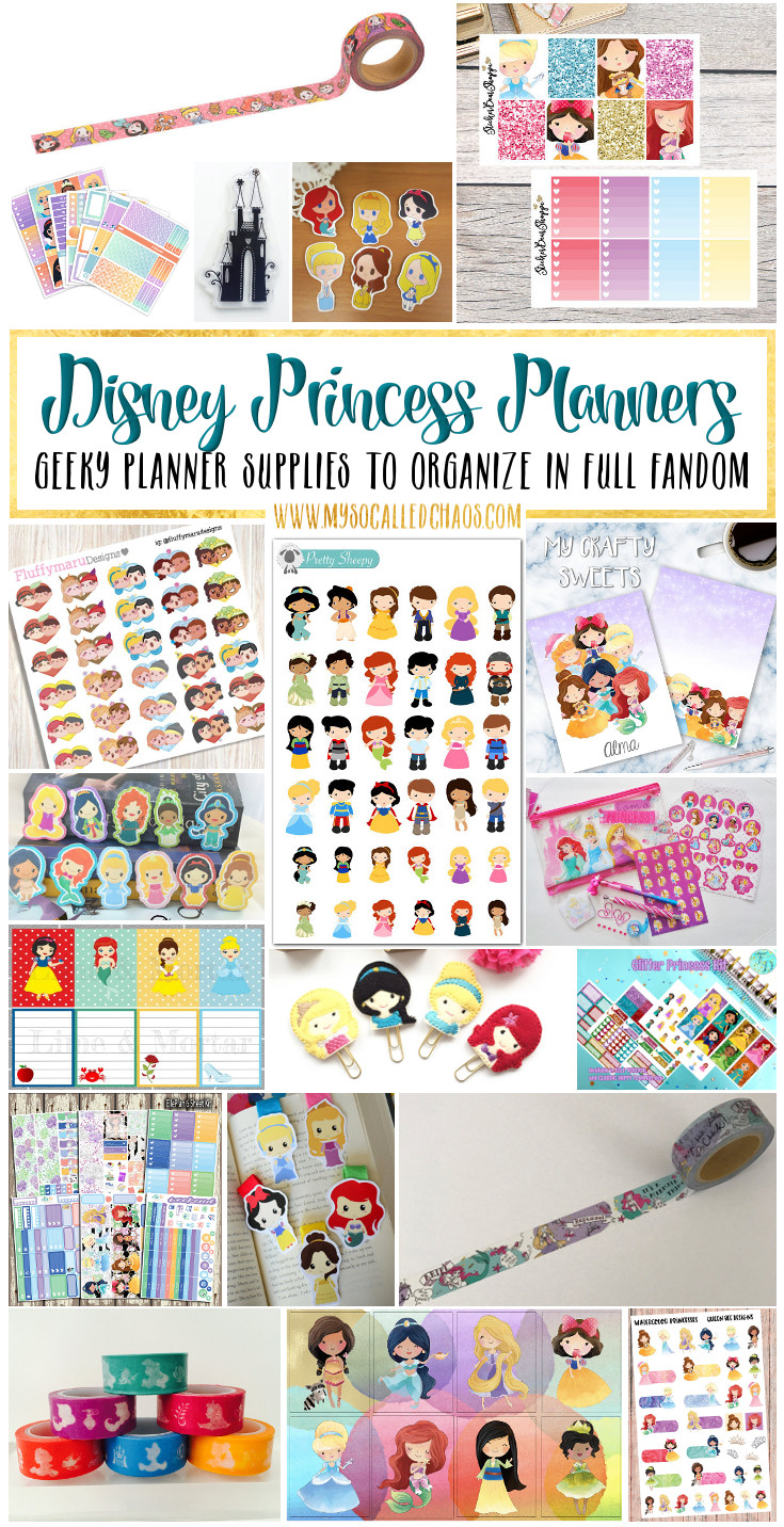 photograph about Planner Supplies named Disney Princess Planner Materials and Planner Unfold Enthusiasm