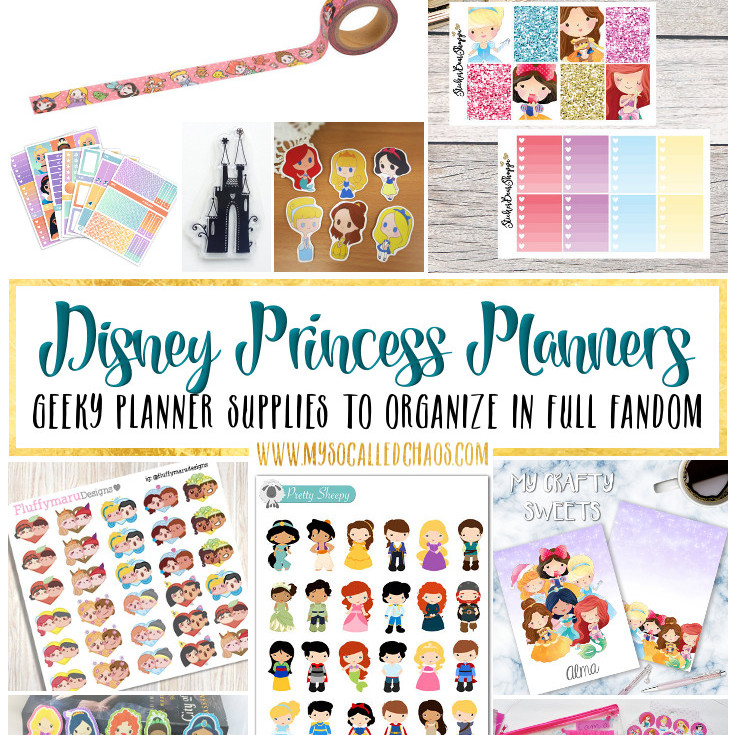 Disney Princess Planner Supplies and Spread Inspiration
