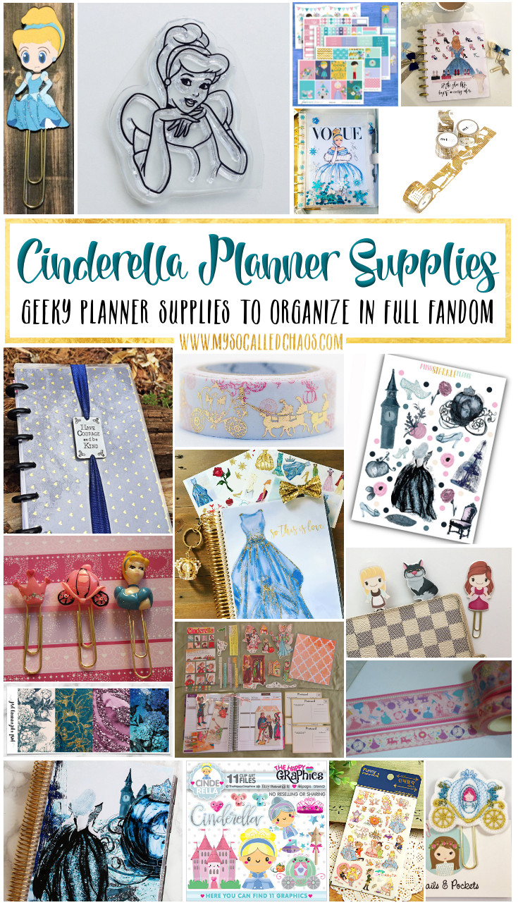 Cinderella Planner Supplies