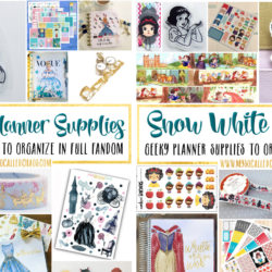 Disney Princess Planner Supplies: Snow White & Cinderella