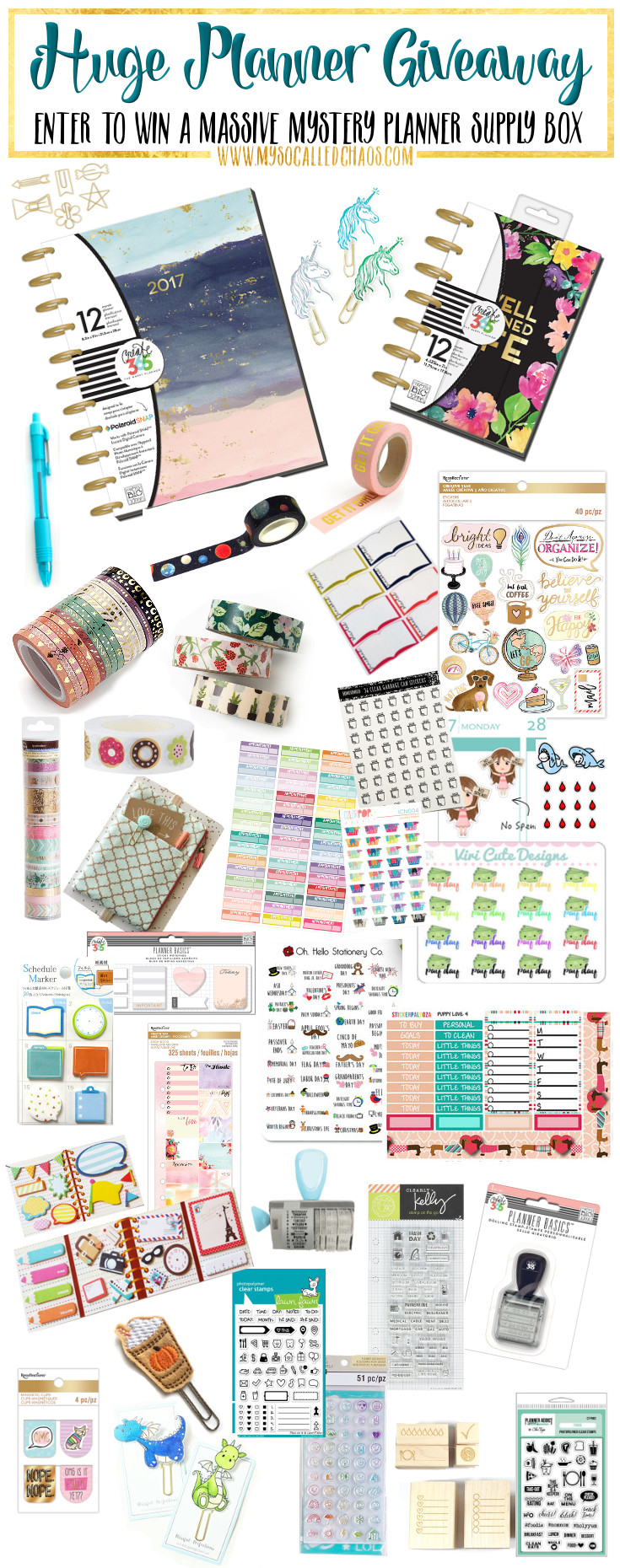 Enter our HUGE planner giveaway for a chance to win a planner box filled with goodies!