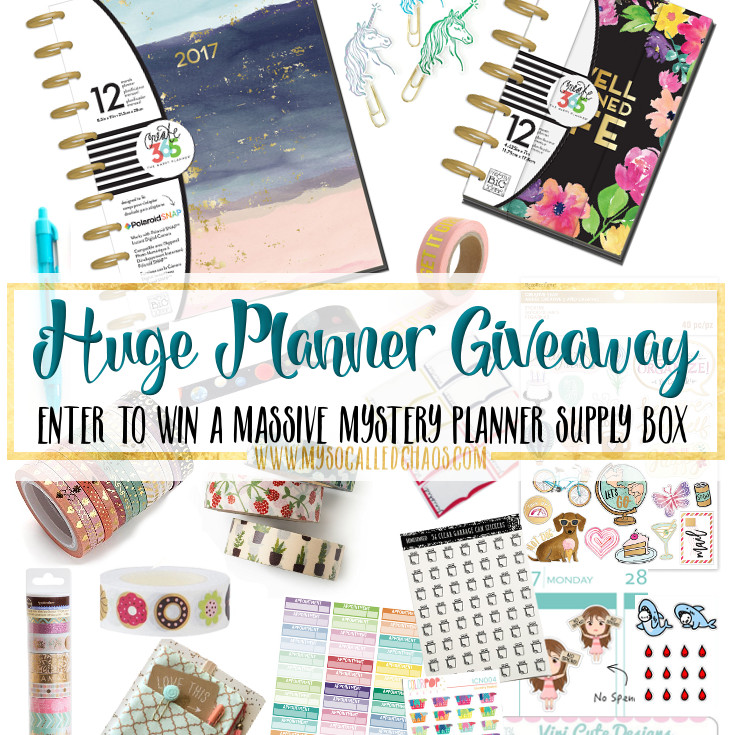 HUGE Planner Giveaway (January's Big Giveaway)