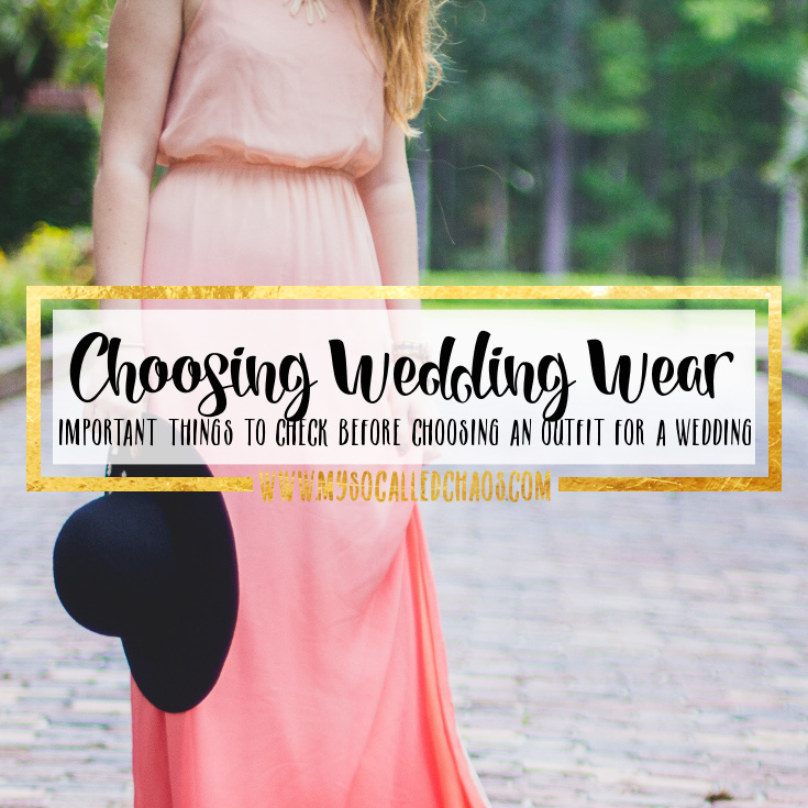 Important Things to Check When Choosing an Outfit for a Friends Wedding